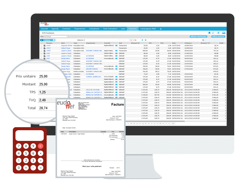 Eudonet accounting interface