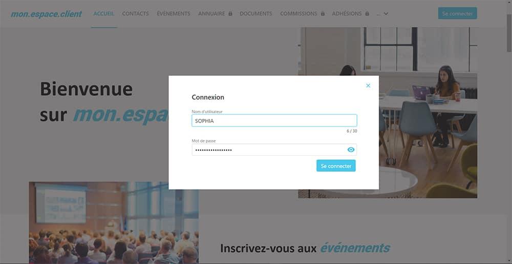 Page Connexion Extranet Eudonet CRM