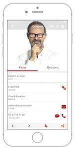 Logiciel CRM Fondations mobile