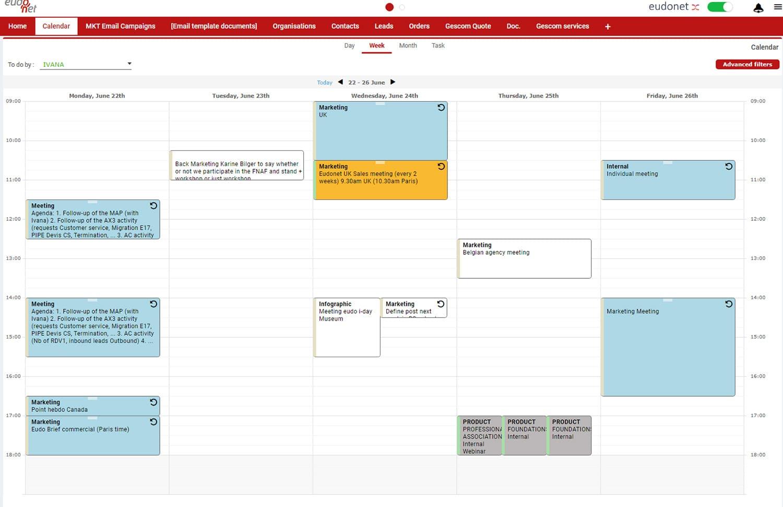 Shared calendar CRM