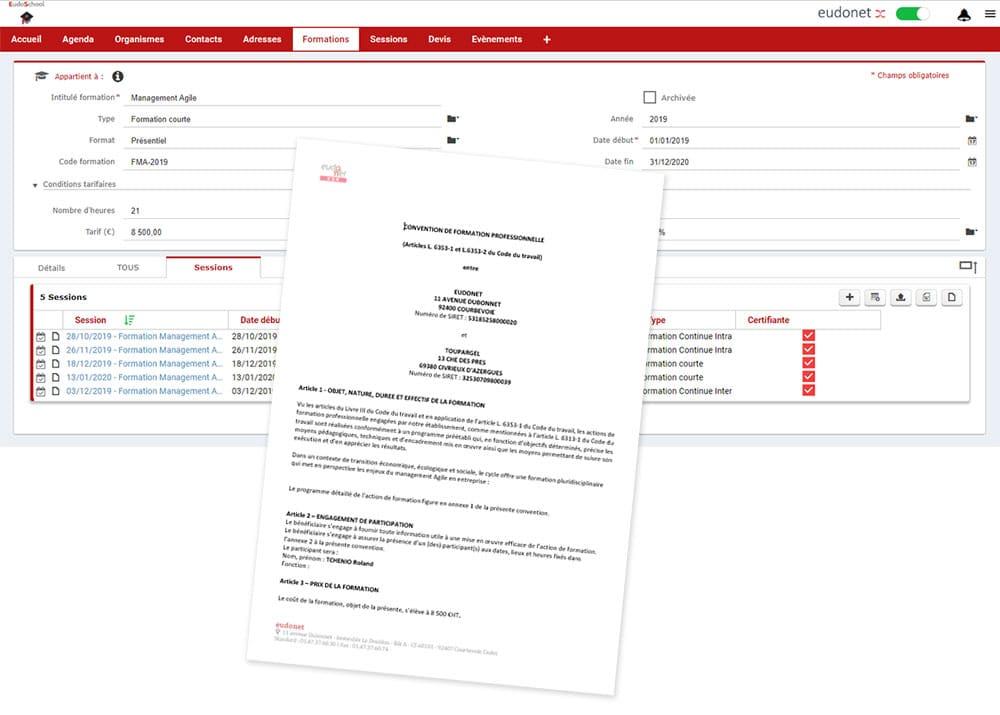 Catalogue de formations CRM